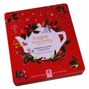 English Tea Shop - Wintertee-Kollektion in edler Metalldose Premium Holiday Collection Rot, BIO, 72 Teebeutel (9x8)
