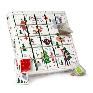English Tea Shop - Puzzle Tee Adventskalender White Ornaments, 25 einzelne Boxen