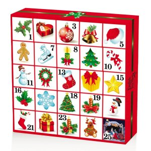 English Tea Shop - Tee Adventskalender Christmas Ornaments, 25 einzelne Boxen mit würzigen BIO-Tees in hochwertigen Pyramiden-Teebeutel