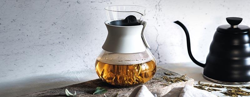 Stilvolle Hario Teekanne Decanter aus Glas