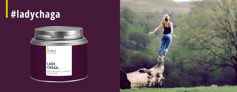 Wellness-Tee Lady Chaga - BIO Schwarzer Tee