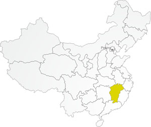 Tee-Anbaugebiet Jiangxi in China