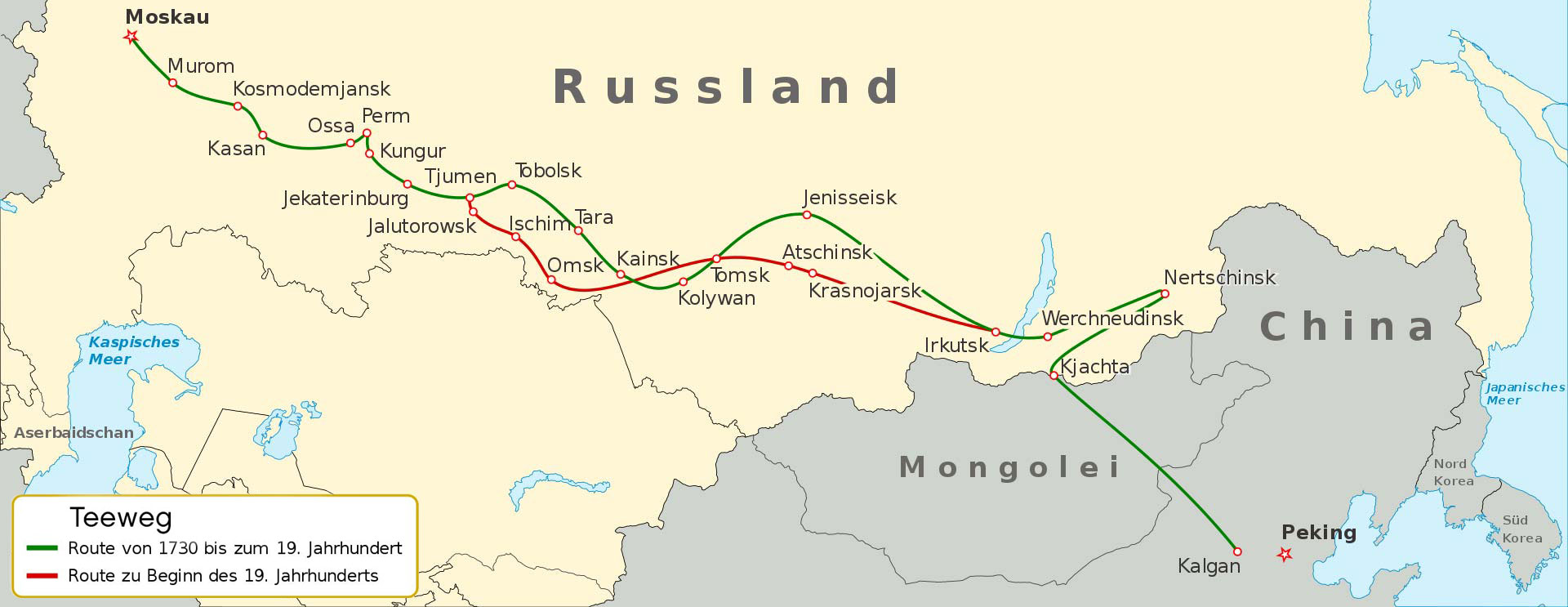 Der Teeweg China Russland