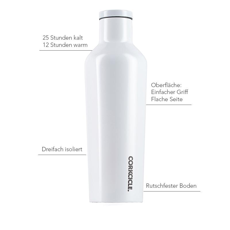 Isolierflasche 475ml, schwarz-weiß