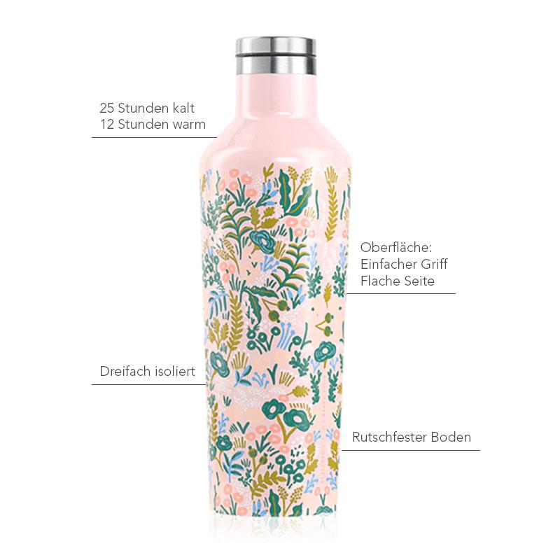 Isolierflasche 475ml, rosé-weiß