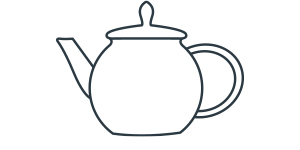 Tee-Wasser erhitzen